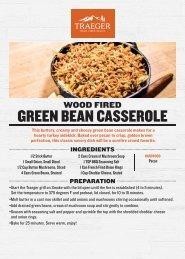 Traeger Green Bean Casserole