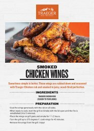 Traeger Smoked Chicken Wings