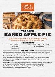 Traeger Baked Apple Pie