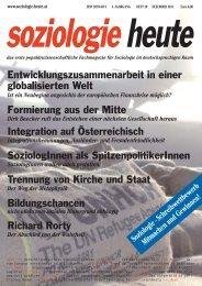 soziologie heute Dezember 2011