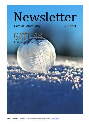 Newsletter Gate48 2018/1