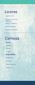 Menú de bebidas Restaurante Los Farallones - Page 4