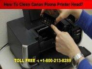 Clean Canon Pixma Printer Head  1-800-610-6962