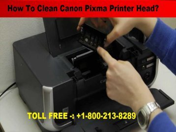 Clean Canon Pixma Printer Head  1-800-610-6962