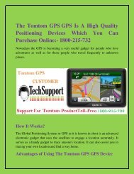 The Tomtom GPS Is A High Quality Positioning Devices Which You Can Purchase Online 1800-215-732