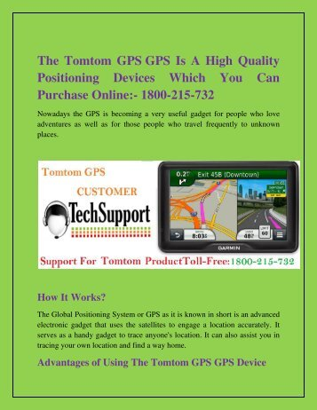 Tomtom Australia Map 915.Get Solutions To Problems By Tomtom Customer Support Number 1800 215 732
