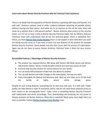 Norton Antivirus Customer Care +1-855-536-5666 Phone Number