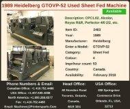 Buy Used 1989 GTOVP-52 Heidelberg Printing Presses Machine
