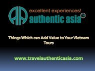 Things Which can Add Value to Your Vietnam Tours