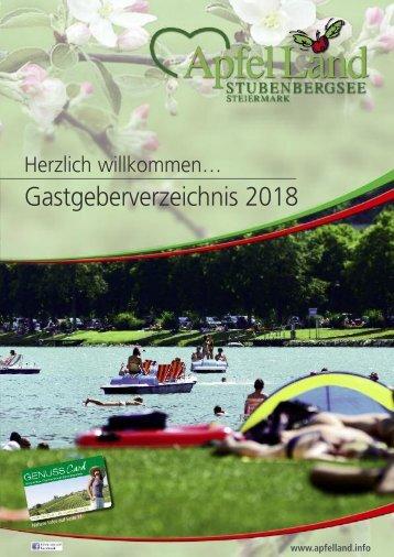 ApfelLand Gastgeberverzeichnis 2018
