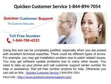 Quicken Login Issues Number 1-844-894-7054