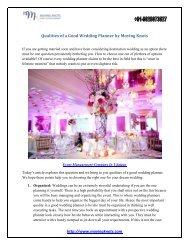 Qualities of a Good Wedding Planner