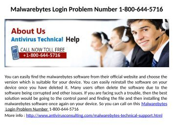 Malwarebytes Login Problem Number 1-800-644-5716