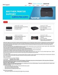 Brother Printer Support Phone Number+1(855)704-4301