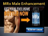 MRx Male Enhancement : Naturally Boost Sex Drive, Size & Stamina