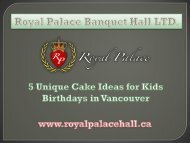 5 Unique Cake Ideas for Kids Birthday in Vancouver