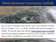 Mold Removal Contractor Suffolk