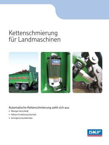 Kettenschmierung für Landmaschinen