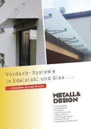 Metall & Design Vordach-Broschüre