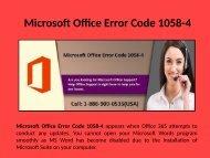 Fix Microsoft Office Error Code 1058-4 Call 1-888-909-0535