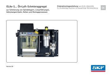 OLAx-1... Öl+Luft-Schmieraggregat