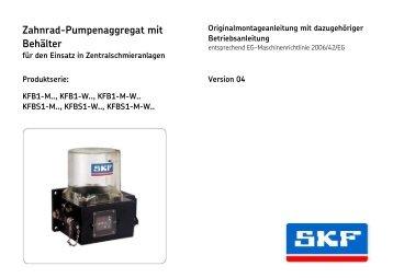 Zahnrad-Pumpenaggregat mit Behälter
