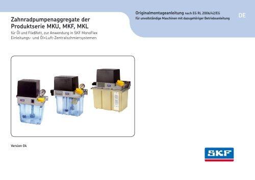 Zahnradpumpenaggregate der Serie MKU, MKF, MKL