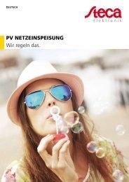 Steca Elektronik Katalog PV Netzeinspeisung (06 2018)