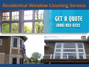 Residential window cleaning madison