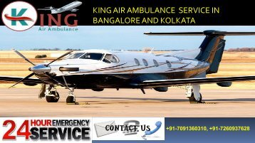 king air ambulance service in bangalore and kolkata