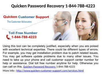 Quicken Login Issues 1-844-788-4223