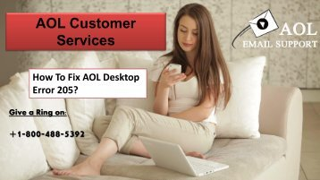 How to Fix AOL Desktop Error 205? 18004885392 For Help