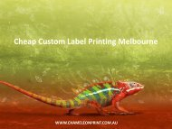 Cheap Custom Label Printing Melbourne - Chameleon Print Group