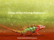 Cheap Sticker Printing Melbourne - Chameleon Print Group