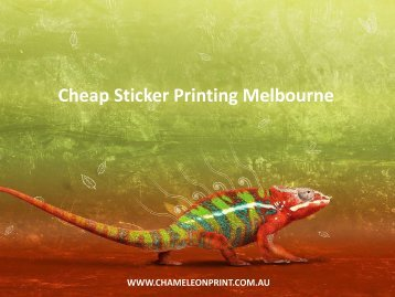 Cheap Sticker Printing Melbourne - Chameleon Print Group