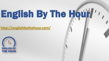 Accent Coaching - English By The Hour