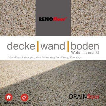 RenoFloor DRAINFloor TrendDesign Mondstein