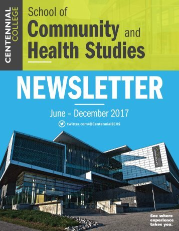 School of Community and Health Studies 2017 Newsletter