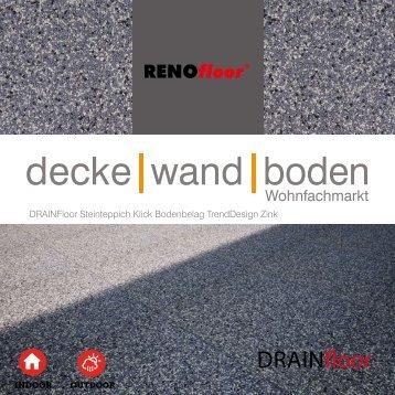 RenoFloor DRAINFloor TrendDesign Zink