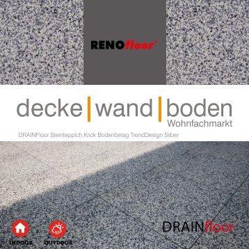 RenoFloor DRAINFloor TrendDesign Silber