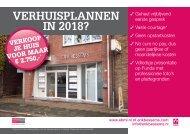 Verhuisplannen in 2018?