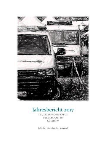 Jahresbericht Bereitschaften DRK-KV Güstrow e. V. 2017