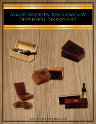 Almar Wooden Box Company - 2018 Catalogue