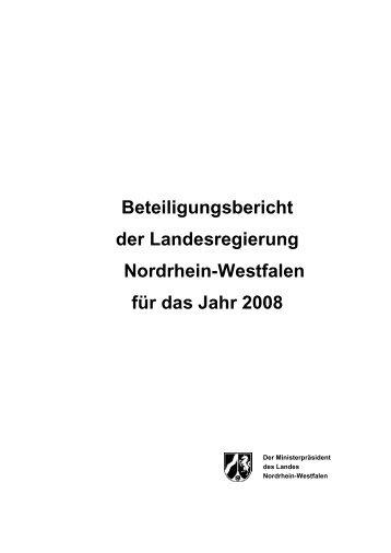 Entwurf Bericht 2008 - Finanzministerium NRW - Landesregierung ...
