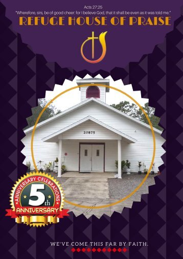Refuge House Anniversary