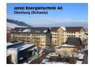Jenni Energietechnik AG Oberburg (Schweiz) - der GVO