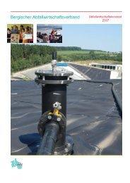 Abfallwirtschaftskonzept 2007 - Bergischer Abfallwirtschaftsverband