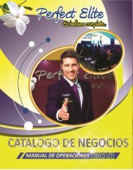 CATALOGO DE NEGOCIO PERFECT ELITE