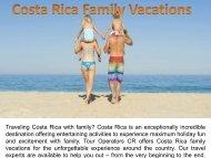 Costa Rica Family Vacations