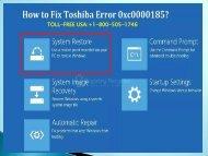 Fix Toshiba Error 0xc0000185